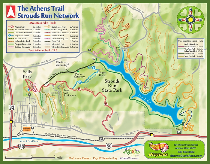 Bike Trails In Ohio Map.Cycle Path Bicycles The Cycle Logical Choice In Athens Ohio