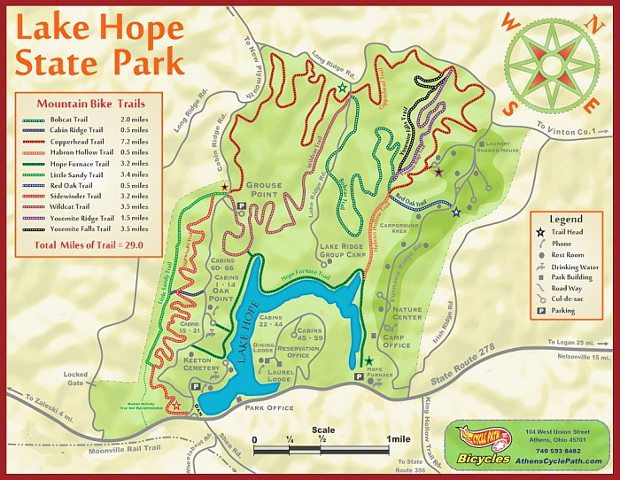State Parks Ohio Map.Cycle Path Bicycles The Cycle Logical Choice In Athens Ohio