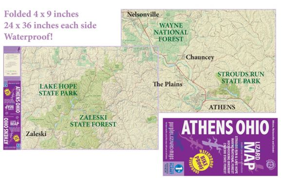 Athens, Ohio Adventure Map by Purple Lizard #2